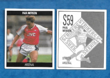 Arsenal Paul Merson England S59